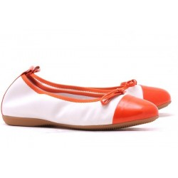 Ballerines en cuir bicolores Mally