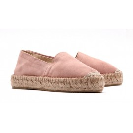 Espadrilles Pieces en suede rose