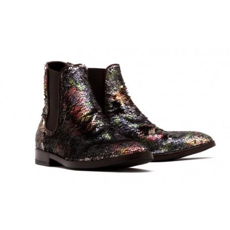 Boots imprimées a sequins-La Bottega Di Lisa