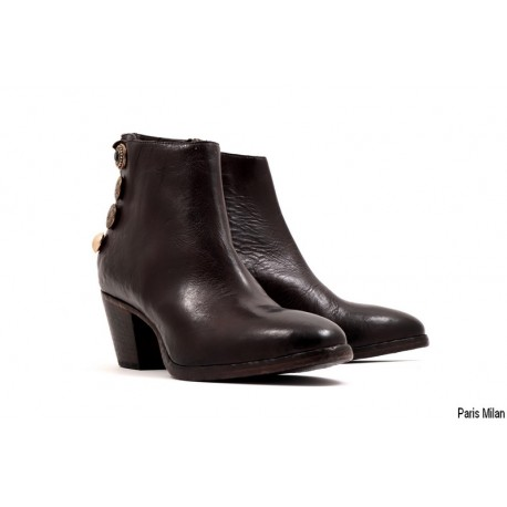 Bottines Giorgia en cuir marron Elena Iachi