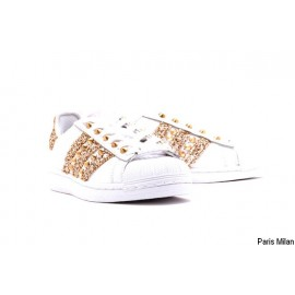Baskets Superstar Adidas paillettes dorées