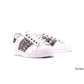 Baskets Adidas Superstar paillettes argentés