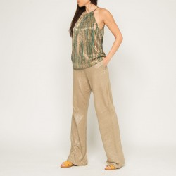 Pantalon Not Shy en lin irisé