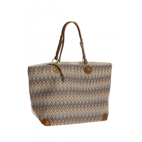 Mila Louise grand sac en tissus imprimé avec lurex