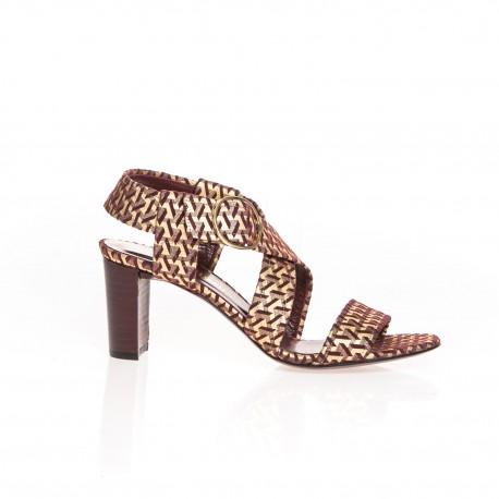 Sandales en cuir  brique Artyn Avril Gau
