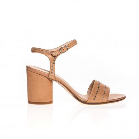 Fru.it sandales en cuir camel